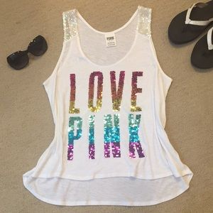 VS PINK Rainbow Sequin Tank
